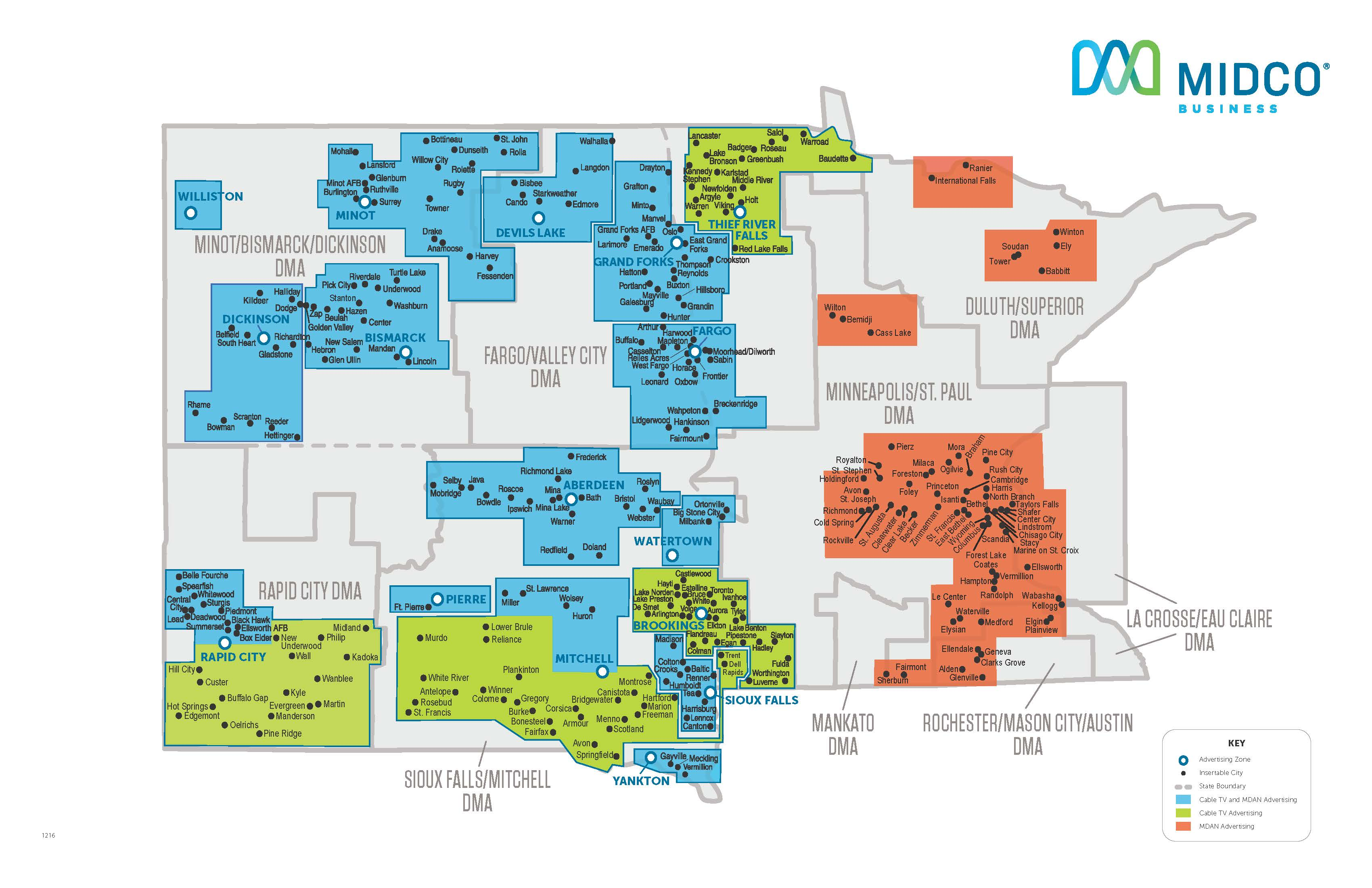 Midco Advertising Map